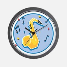 Saxaphone (Sax) and Music Not Wall Clock