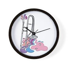Silver Trumpet/Trombone Wall Clock