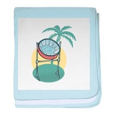Steel Drum and Palm Tree Infant Blanket