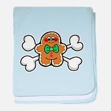 Gingerbread Man & Crossbones Infant Blanket