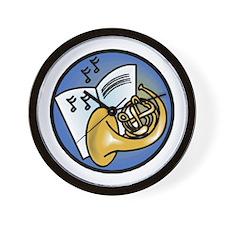 Tuba and Sheet Music Circle D Wall Clock