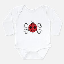 Cute Ladybug & Crossbones Long Sleeve Infant B
