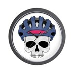 Cycling Skull Head Wall Clock