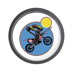 Dirt Bike Stunt Design Wall Clock