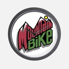 Mountain Bike Graphic Wall Clock