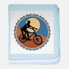 Mountain Bike Chain Design Infant Blanket