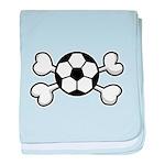 Soccer Ball Crossbones Design Infant Blanket