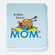 Knitter. Sewer. MOM. Infant Blanket