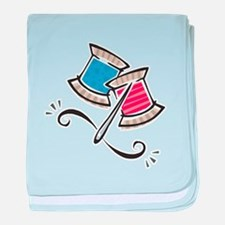 Cute Needle & Thread Design Infant Blanket
