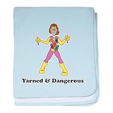 Yarned & Dangerous Knitting H Infant Blanket
