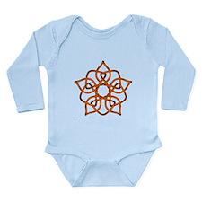 Orange Pentagram Long Sleeve Infant Bodysuit