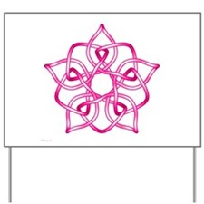 Pink Pentagram Yard Sign