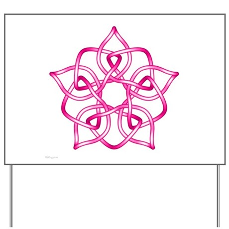 Pink Pentagram Yard Sign