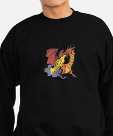 Orange Fire-Breathing Dragon Sweatshirt