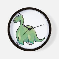 Cute Brontosaurus Wall Clock