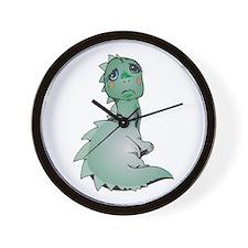 Sad Baby Dinosaur Wall Clock