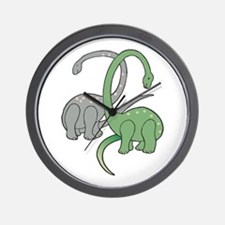Two Dinosaurs Wall Clock