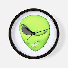 Funny Winking Alien Wall Clock