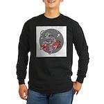 Alien on Hovercraft Long Sleeve Dark T-Shirt