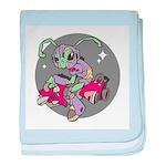 Alien on Hovercraft Infant Blanket