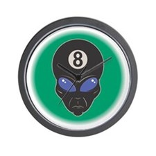 Eight Ball Alien Wall Clock