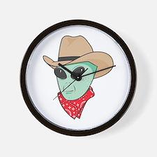 Cowboy Alien Wall Clock