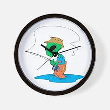 Fisherman Alien Wall Clock