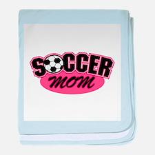 Pink Soccer Mom Design Infant Blanket