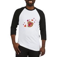 Bear Hugging Hearts Baseball Jersey