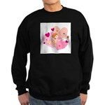Cute Little Cupid Shooting Ar Sweatshirt (dark)