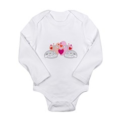Valentine Swans Long Sleeve Infant Bodysuit