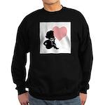 Valentine Silhouette Thinking Sweatshirt (dark)