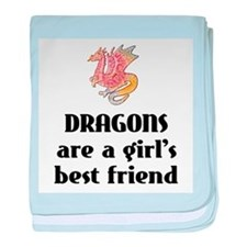 Dragon Girl Infant Blanket