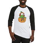 Silly Froggy in Pumpkin Baseball Jersey