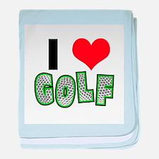 I Heart (Love) Golf Infant Blanket