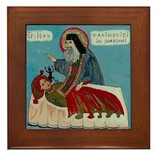 Saint John Maximovich Framed Tile
