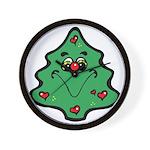 Cute Happy Christmas Tree Wall Clock