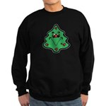 Cute Happy Christmas Tree Sweatshirt (dark)