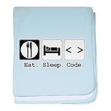 Eat. Sleep. Code. Infant Blanket