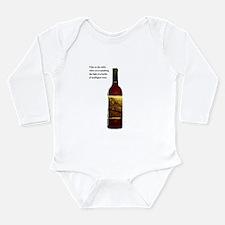 Wine Bottle Long Sleeve Infant Bodysuit