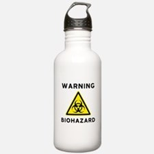 Biohazard Warning Sign Water Bottle