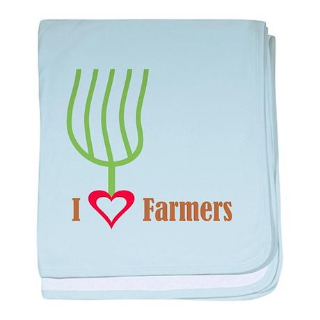 I Heart Farmers Infant Blanket