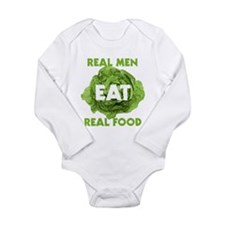 Real Men Eat Real Food Long Sleeve Infant Bodysuit