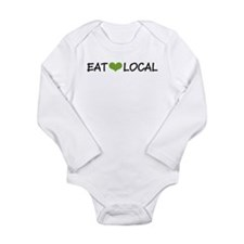 Eat Local Long Sleeve Infant Bodysuit