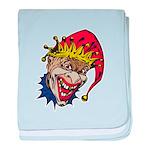 Laughing Evil Grin Clown Infant Blanket