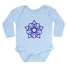 Blue Pentagram Long Sleeve Infant Bodysuit