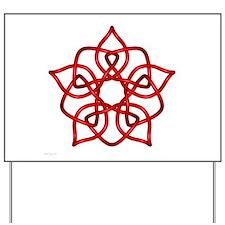 Red Pentagram Yard Sign