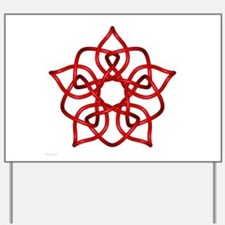Red Pentagram Yard Sign