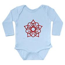 Red Pentagram Long Sleeve Infant Bodysuit