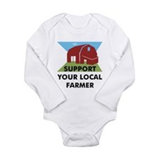 Support Your Local Farmer Long Sleeve Infant Bodys